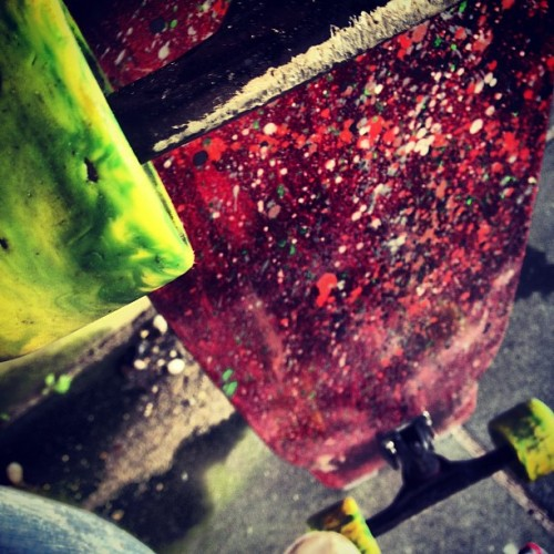 #skate #sk8 #paint #art #photo #kony2010 #spongebob #longboard #longboading #free# #wet #wheels #supra (Taken with Instagram)