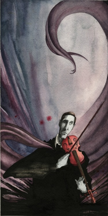 weirdletter:  H.P. Lovecraft and the Music of Erich Zann by Zach Erdmann, via ZachErdmann.com.