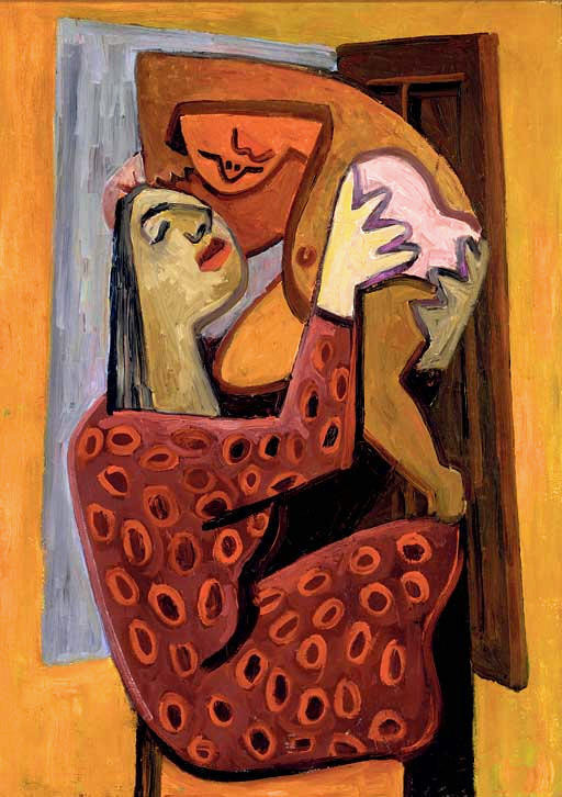 David Park:  Mother with Polka Dot Dress (c.1930)
