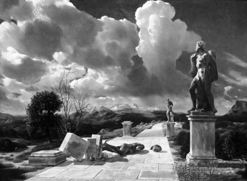 Carel Willink (1900-1983) - Landschap met omgevallen beeld, Musée Royal des Beaux-Arts d'Anvers, 1942