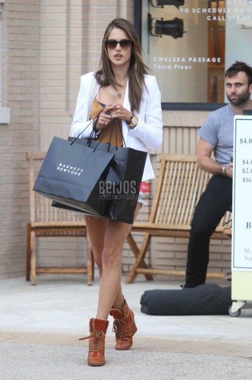 @AngelAlessandra & @anjasdaddy shopping at Barney's in Beverly Hills, CA (Oct 9) HQ