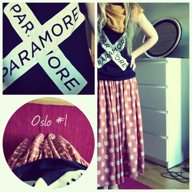 #todays #outfit #paramore #music #clothes #oslo #vacation #fashion #me #hair #dots  (Taken with Instagram)