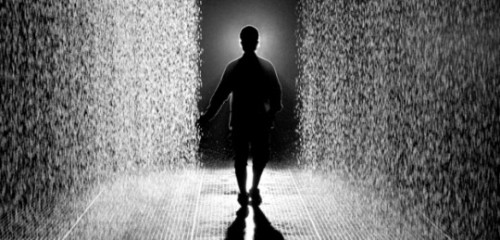 The Rain Room is a show @ the barbican gallery about rain but you stay dry…