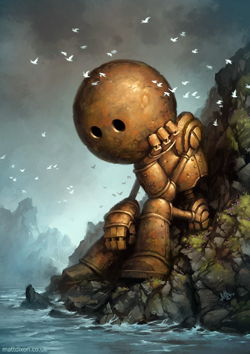 attic-of-the-universe:  Lonely Robot By Matt Dixon