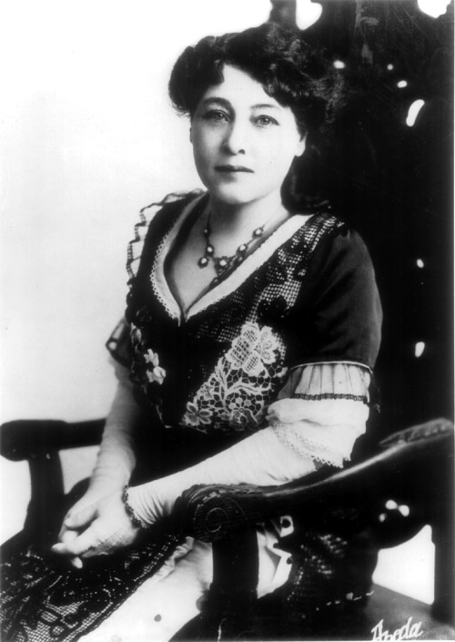 frenchhistory:   Alice Guy at the end of the nineteenth century. @credits  Alice Guy-Blaché (July 1, 1873–March 24, 1968) was a French pioneer filmmaker who was the first female director in the motion picture industry and is considered to be one of the first directors of a fiction film. Alice Guy-Blaché is the first female film maker and is responsible for creating one of the first narrative films in 1896.Guy's career of 24 years of directing, writing and producing films is the longest career of any of the cinema pioneers. From 1896 to 1920, Guy directed over 400 films, 22 of these films are feature length features. Guy was and still is the only woman to ever manage and own her own studio, The Solax Company. In 1953 Guy was awarded the Légion d'honneur, the highest non military award France offers. On March 16, 1957 she was honored in a Cinematheque Françoise ceremony which went unnoticed by the press.