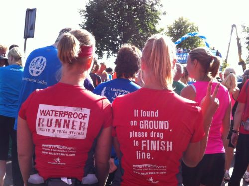 Ready to run the Dam tot Damloop in the shirts I designed for AmsterdamFit! www.amsterdamfit.com
