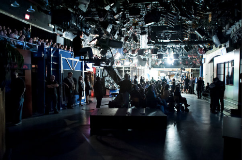 Studio of SNL during a dress rehearsal on October 6, 2012. Studio 8H in 30 Rockefeller Plaza has been the home of the show since it's inception in 1975. Photograph: Karsten Moran for The New York Times [More photos]