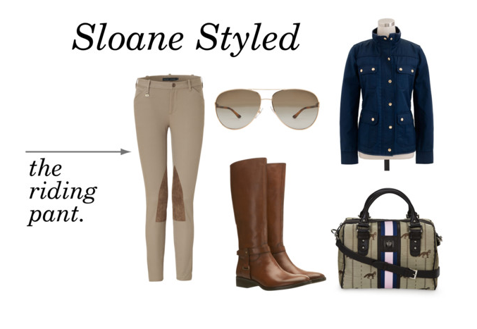 Sloane Styled - The Riding Pant.  Here at Sloane Ranger it is no secret that the equestrian look is one of our favorites.  Such a timeless and classic look.  This is how we would style this great pair of riding pants for fall.  Shop the set here.