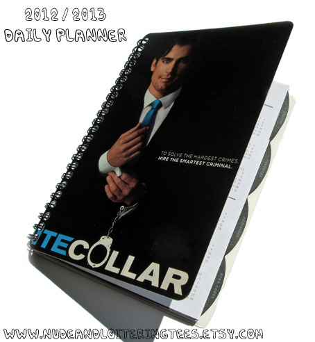 Up-Cycled White Collar themed Planner ♥