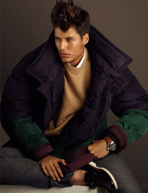 malemodelscene:  Emilio Flores for Best Fashion by Edu Garcia Wearing Burberry Prorsum