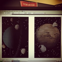 -biThe universe in 16-bit, working series of prints inspired by the planets and the universe and video game art! (Taken with Instagram)