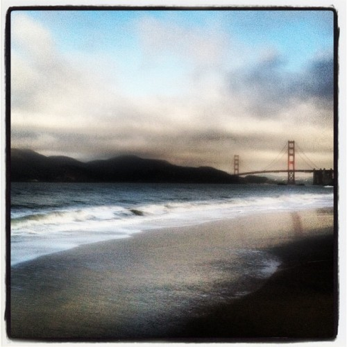 Morning run 😊 (Taken with Instagram at Baker Beach)