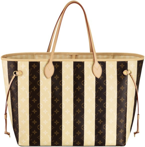 Large $1,650 Louis Vuitton TGM Monogram Rayure Neverfull Handbag
