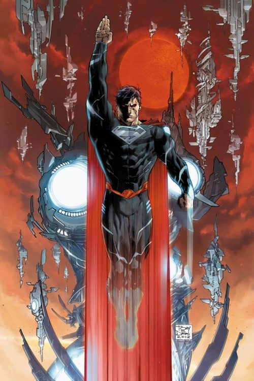 The New Superman // artwork by Tony Daniel (2012) Superman's new costume makes a debut in Action Comics #18, by the new creative team of Andy diggle and Tony Daniel.