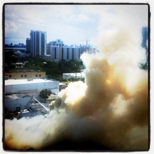 Fire at the #ArtByGod warehouse in #Wynwood #Miami. Pic by #MannyHernandez @coolmanolo (Taken with Instagram)