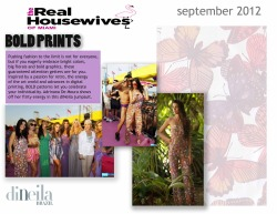 The Real Housewives of Miami get flirty in diNeila #jumpsuit #boldprint #butterfly