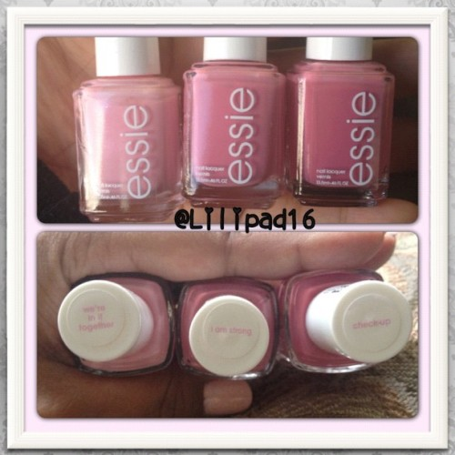 Finally found them! #essie #cancerawareness #thinkpink #pink #savethetatas #nails #nailaddict #nailjunkie #nails2inspire #nailpolish #nailpolishjunkie #ig #igers #igdaily #igaddict #instalove #iphonesia #instaframe #instagramers #photoaday  (Taken with Instagram)