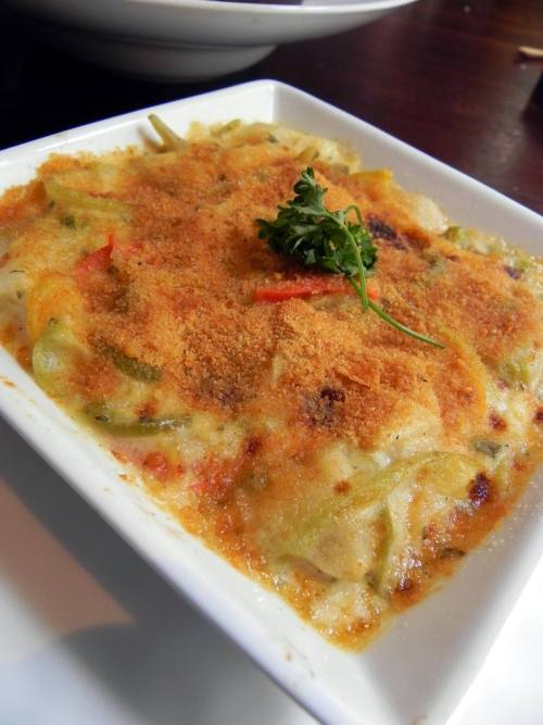 Artichoke & Mirliton au Gratin from Restaurant R'evolution
