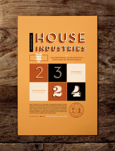 "House Industries AIGA South Carolina ""Roat Rich""  -  J. Fletcher"