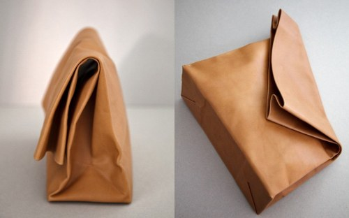 lylaandblu:  the reusable leather lunch-bag!