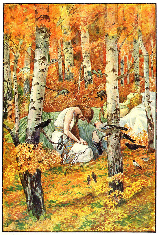 Illus. by Artuš Scheiner for Vyšehrad by Julius Zeyer (via Golden Age Bohemian: Artuš Scheiner - 50 Watts)