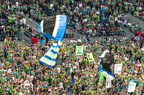 zacwassink:  Seattle Vs. Portland Match Attracts Nearly 300k Viewers While Against SNF and MLB Playoffs (photo credit: Karen Corby / Flickr) -http://sports.yahoo.com/news/rbny-fan-seattle-vs-portland-match-attracts-nearly-165300942—mls.html