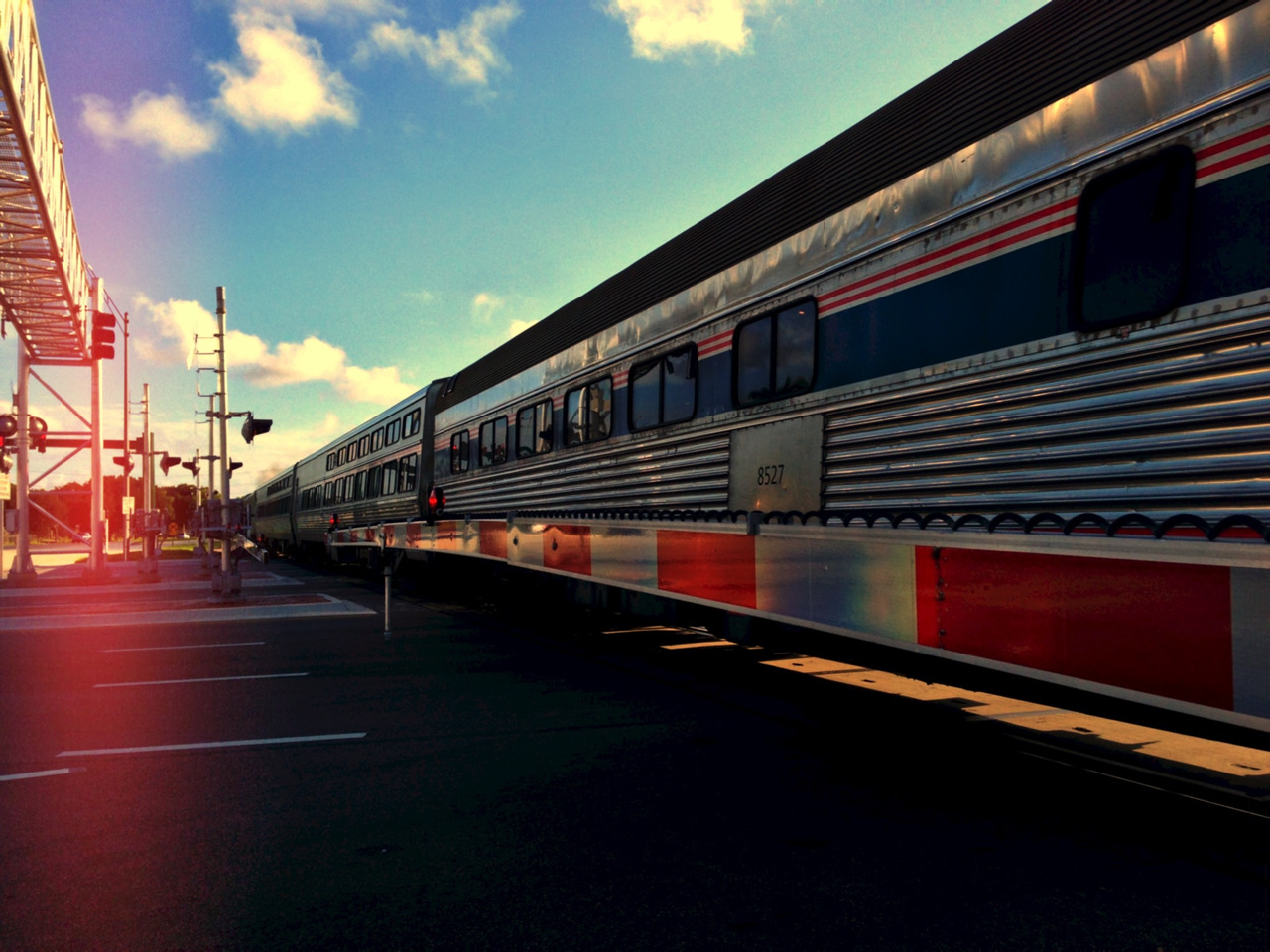 coolchris731:  Getting stopped by the train resulted in a great photo opportunity.