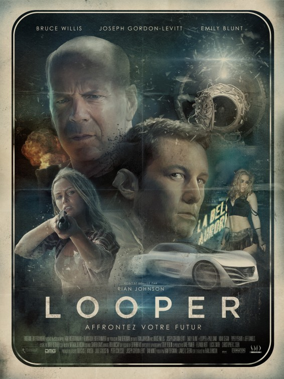 florencio:  (vía Looper Movie Poster #14 - Internet Movie Poster Awards Gallery)  This poster is spectacular!