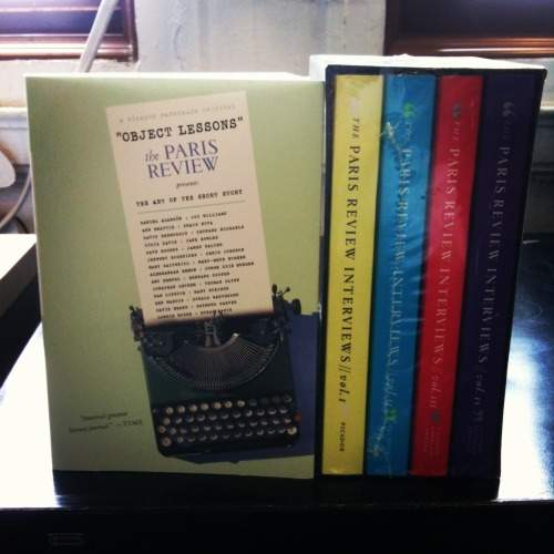 Picador Paperbacks is giving away two copies of The Paris Review's Object Lessons and The Paris Review Interviews Box Set (Volumes 1-4). Like our Facebook page and tell us three words that describe the perfect short story in the comments. The giveaway ends at 5PM today. Good luck! (2 winners will be chosen randomly from the comments. Sorry US Only) https://www.facebook.com/PicadorUSA