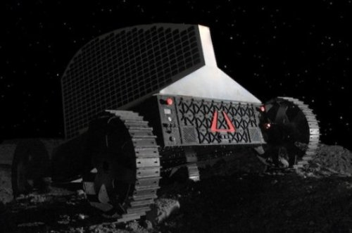 Polaris Robot to Seek Water Ice on Lunar Pole  A first-of-its-kind solar-powered lunar rover can drill 3 feet into the lunar surface, hoisting a vertical triple solar array to capture sunlight from super low on the moon's horizon. Roboticists at a company called Astrobotic, a spinoff from Carnegie Mellon University, built a working prototype and plan to test it in the next few months. Astrobotic and CMU hope to nab the $30 million Google Lunar X Prize for the first privately funded team to send a robot to the moon. Polaris is designed to seek out water ice trapped in the cold craters and regolith at the moon's poles. It has 3-D cameras and laser guidance systems for navigation, and it will communicate directly with Earth using an S-band antenna. A lunar day lasts about two Earth weeks, and about 10 of those days would have enough sunlight for drilling at the moon's poles. Polaris would drill up to 100 holes in those 10 days as it searches for water ice deposits. If it survives the lunar night, it could recharge again as soon as the sun comes up, and continue drilling for ice as long as its drill bit lasts.  (via Meet Polaris, The First Ice-Drilling Lunar Prospector-Bot | Popular Science)