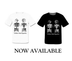 NOW AVAILABLE at www.yellowredsparks.com under merch. All pricing includes shipping!