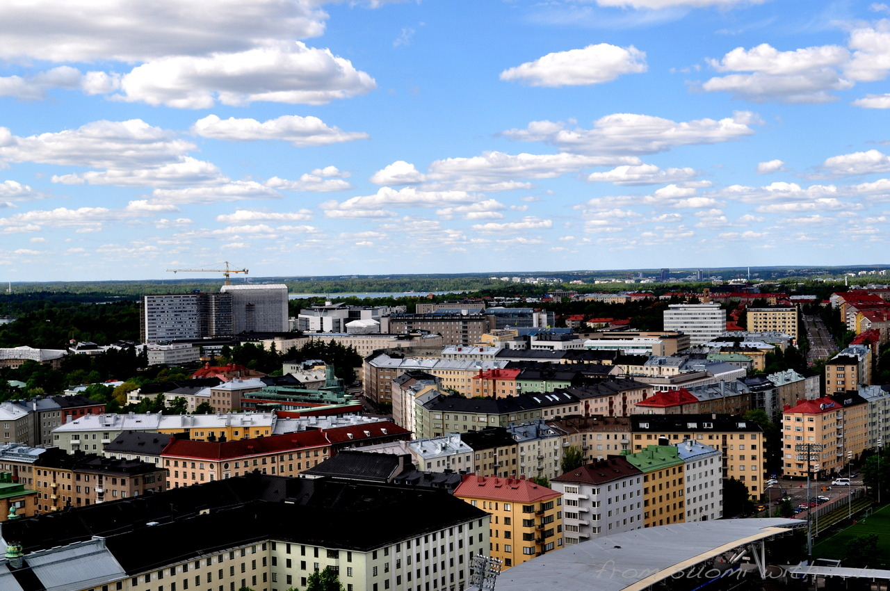 Helsinki from the Olympic Tower