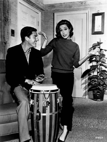 nineteen-fifty-four:  Dick Van Dyke and Mary Tyler Moore on the set of The Dick Van Dyke Show.  They always looked like they were having so much fun!