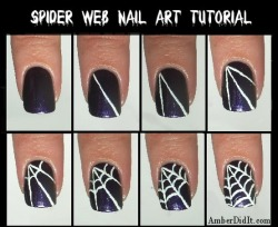 beautyis-skindeeep:  Spider Web Nails!