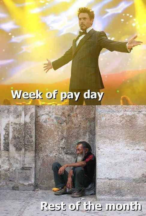 Top one should simply say Pay Day then this would be accurate.