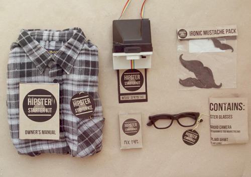 laughingsquid:  Hipster Starter Kit, Be a Hipster or Just Look Like One