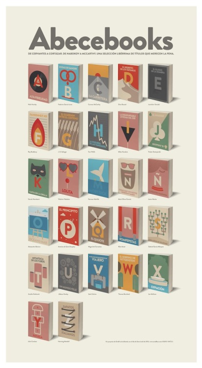 (via Booketing : The Book Design Blog » Abecebooks, l'abécédaire de la littérature)