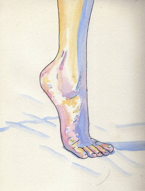Figure Drawing Foot by ischraer on Flickr.