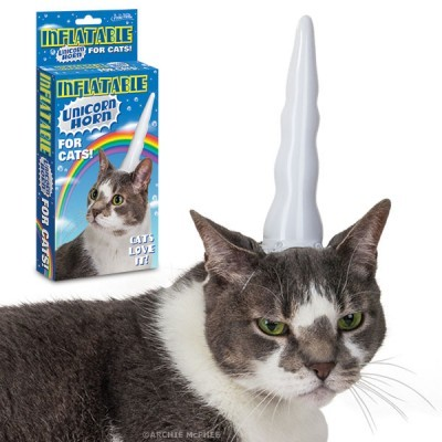 Inflatable Unicorn Horn For Cats - Now in stock! A unicorn horn for your cat! Cats love it!