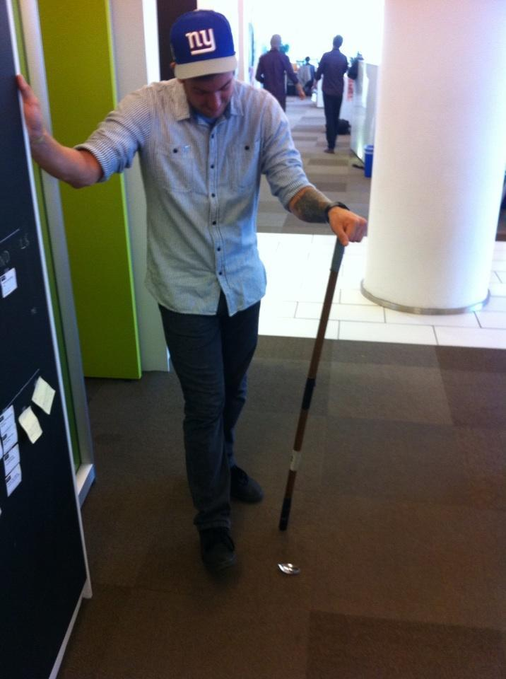 johnzanussi:  Our beloved Spoon Stick broke this morning. Spoon Stick has been a part of the CollegeHumor family since 2008 and at one time even had it's own website. R.I.P. Spoon Stick  I'll miss you, my sweet, overlysized cereal spoon.