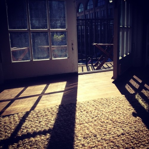 Let the light in. #play #light #shadows #balcony #architecture #savannah #october #fall #home  (Taken with Instagram at My Place)