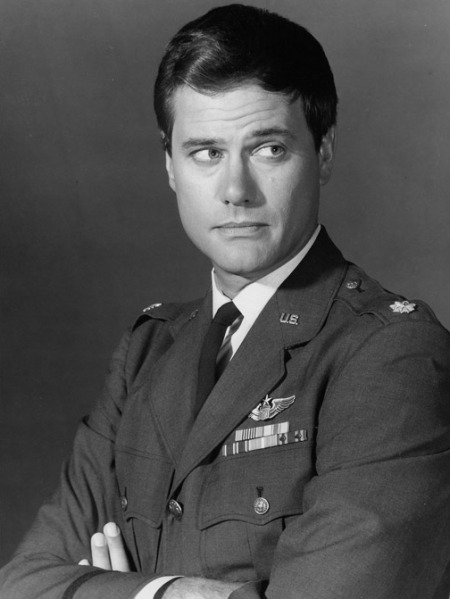 "Larry Hagman as Major Anthony Nelson in ""I Dream of Jeannie"" (1965-1970)."