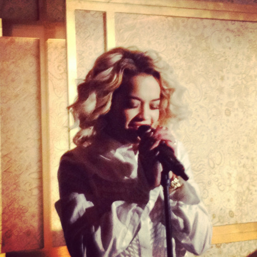 Rita Ora performed last night at the Top of the Standard. If you're not listening to her now, start immediately.