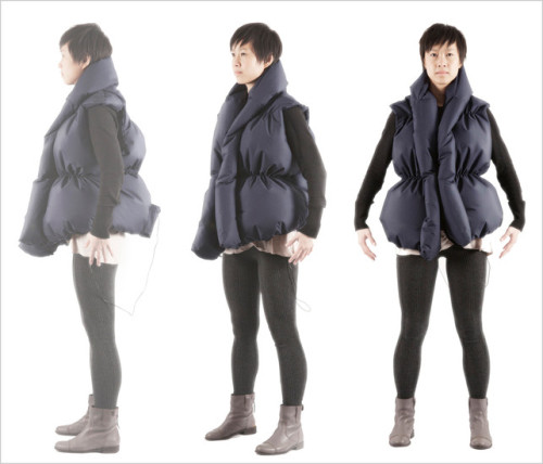 Melissa Chow's Like-a-Hug—a vest that gives you a squeeze when a friend likes something of yours on Facebook—sits somewhere between harmless smartphone vibration and creepy gadget caress on the haptic spectrum.