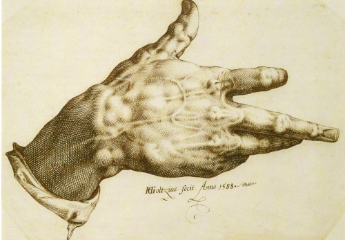 The Artist's Right Hand, Hendrik Goltzius.