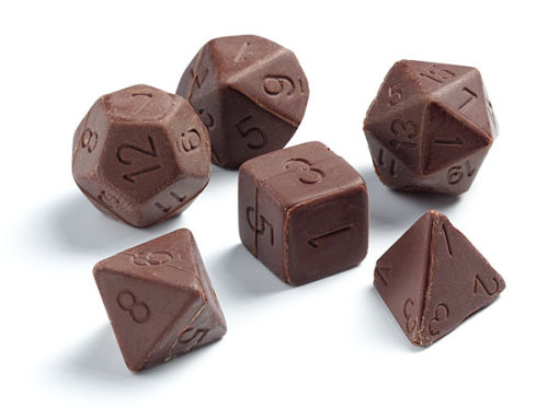 laughingsquid:  Chocolate Gaming Dice Set    No how the hell am I to be expected to play with those?! That seems unsportman-like.