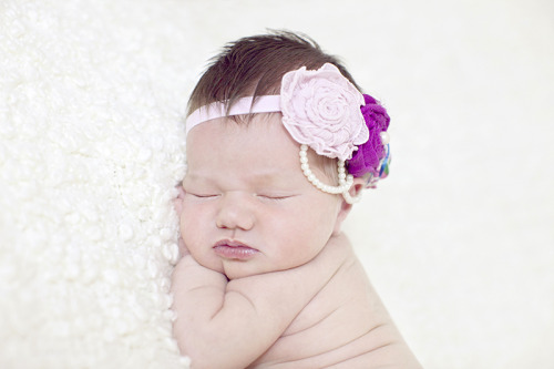fancybowtique:  Couture Baby bands, headbands for the flower girls, vintage wedding