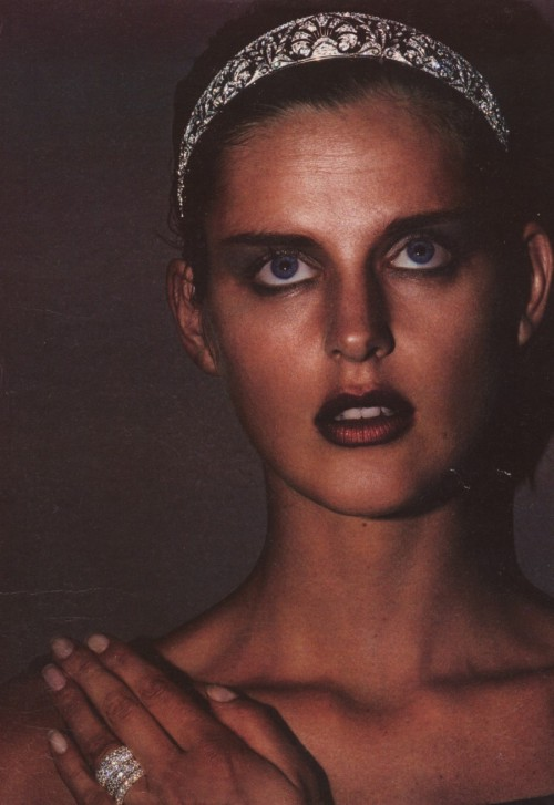 "80s-90s-supermodels:  ""Queen Of The Night"", W US, 1997Model : Stella Tennant ( scanned by hfgl )"