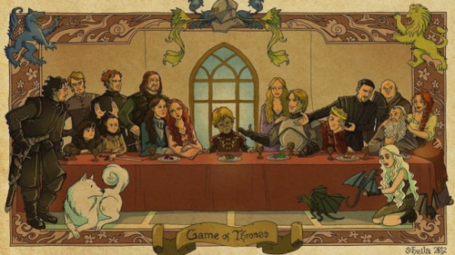 sheilalala via io9  Game of Thrones s.1 Last Supper