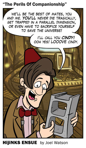 "New #DoctorWho Comic! ""The Perils Of Companionship"" Click through to see the whole thing."